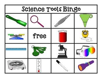 science tools bingo cards game grade kindergarten learning games