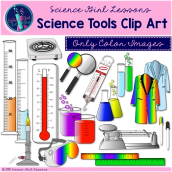 Science Tools Clip Art {Color Images}