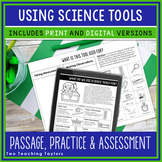 Science Tools Comprehension Unit | Back to School Science