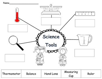 Science Tools Cut and Paste worksheet