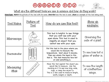 Science Tools Differentiated Activity