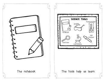 Science Tools Emergent Reader for Young Students and Scientists