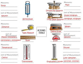 Science Tools -  Interactive Notebook / Foldable