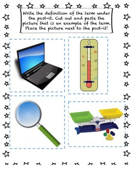 Science Tools Interactive Notebook, Compare/Contrast, Flashcards, Quiz/Test Pack