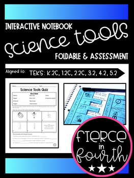 Science Tools Interactive Notebook Foldable & Assessment