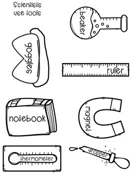 Science Tools: Lab Coat Craftivity / Science Notebook