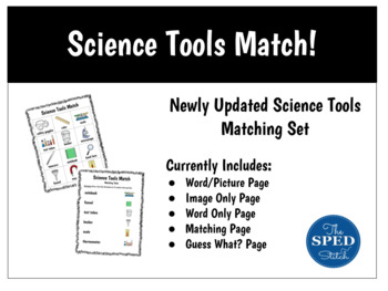 Science Tools Match to Word