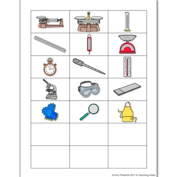 tools science lab measurement matching weather activity preview