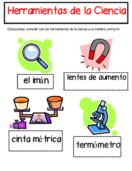 Science Tools Matching in Español