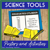 Science Tools: Posters, Flashcards, and Matching Activity