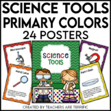 Science Tools Posters in Primary Colors