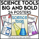 Science Tools Posters in Big & Bold Colors