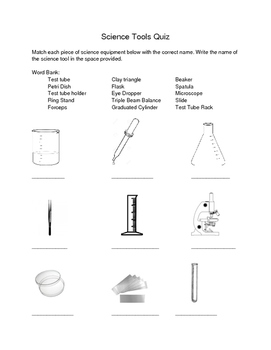 Science Tools Quiz