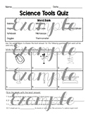 Science Tools Quiz