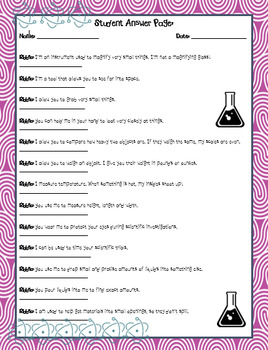 Science Tools Riddles