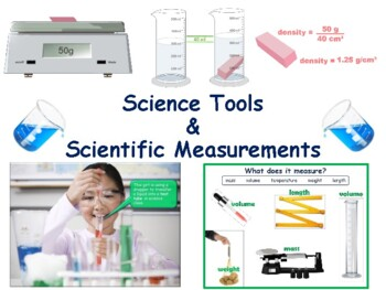 Science Tools, Scientific Measurements Flashcards - task cards/study guide