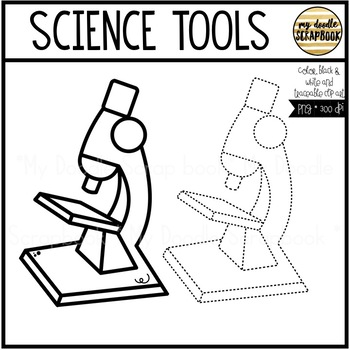 Science Tools & Scientists (Clip Art for Personal & Commercial Use)