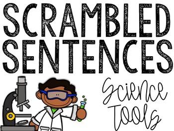 Science Tools Scrambled Sentences