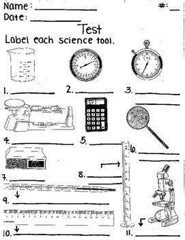 Science Tools Test