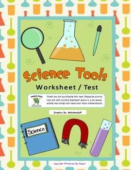 Science Test: Science Tools (Science Worksheet)