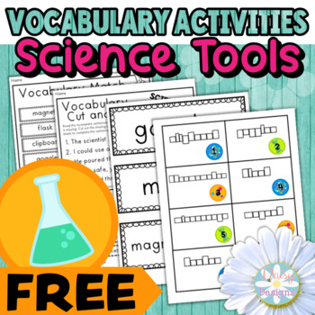 Science Tools Vocabulary Activities FREE SAMPLER