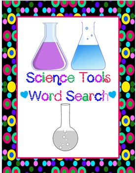 Science Tools Word Search *FREEBIE*