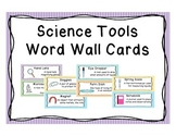 Science Tools Word Wall Vocabulary