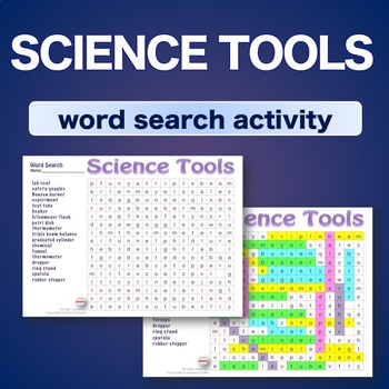 Science Tools * Word Search Activity * Bell Ringer * Warm Up