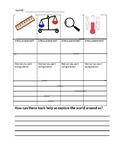 Science Tools Worksheet