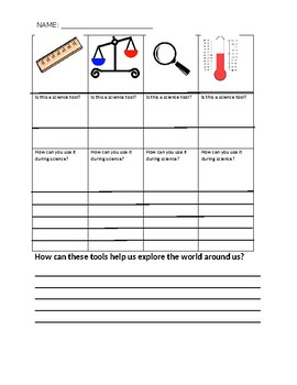 science tools worksheet by misssix teachers pay teachers. Black Bedroom Furniture Sets. Home Design Ideas