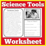 Science Tools | Kindergarten 1st 2nd 3rd Grade | Worksheet