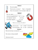 Science Tools Worksheet for Stations in 3rd Grade