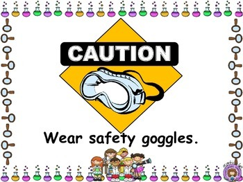Science Safety & Tools vocabulary cards & definitions