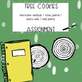 Science - Tree Cookie Growth Rings Interactive Notebook Visual Journal