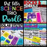 Science Trio Bundle: Rocks & Minerals | Solar System | Animal Classification