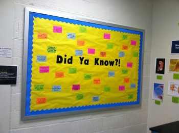 Science Trivia Bulletin Board