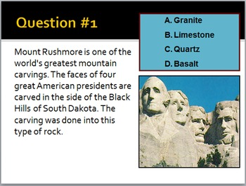 Science Trivia Game: Famous Rocks and Minerals