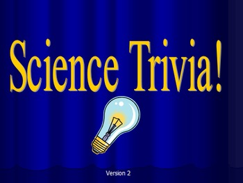 Science Trivia Game Version 2