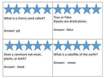Science Trivia for Beginners---50 Question & Answer Cards