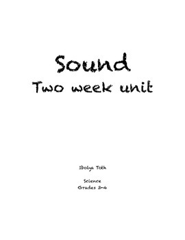 Science Two Week Sound Unit