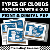 Types of Clouds Quiz and Study Guide, Weather Unit Supplement
