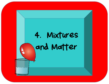 Science Unit 4 Mixtures and Matter