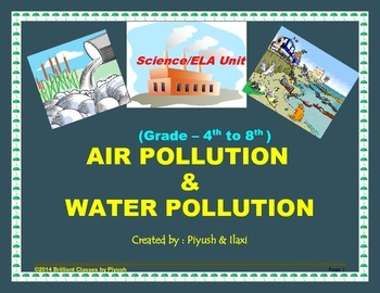 Air & Water Pollution-Basics-Causes-Pollutant-Methods to control -Science Unit