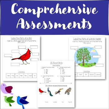 Science Unit Plan - All About Birds! - 5 Full Lessons, Activities, Assessments