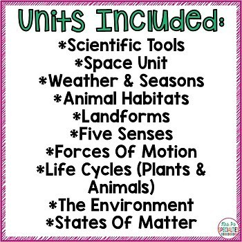 Science Units BUNDLE for Special Education (Leveled Science Centers)