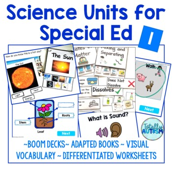 Science Units for Special Ed Growing Bundle