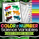 Science Variables - Color by Number