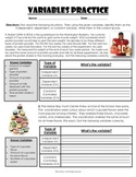 Science Variables Practice Pack