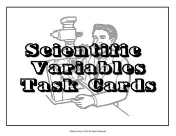 Science Variables SCOOT / Task Cards