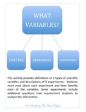 Science Variables in Experiments